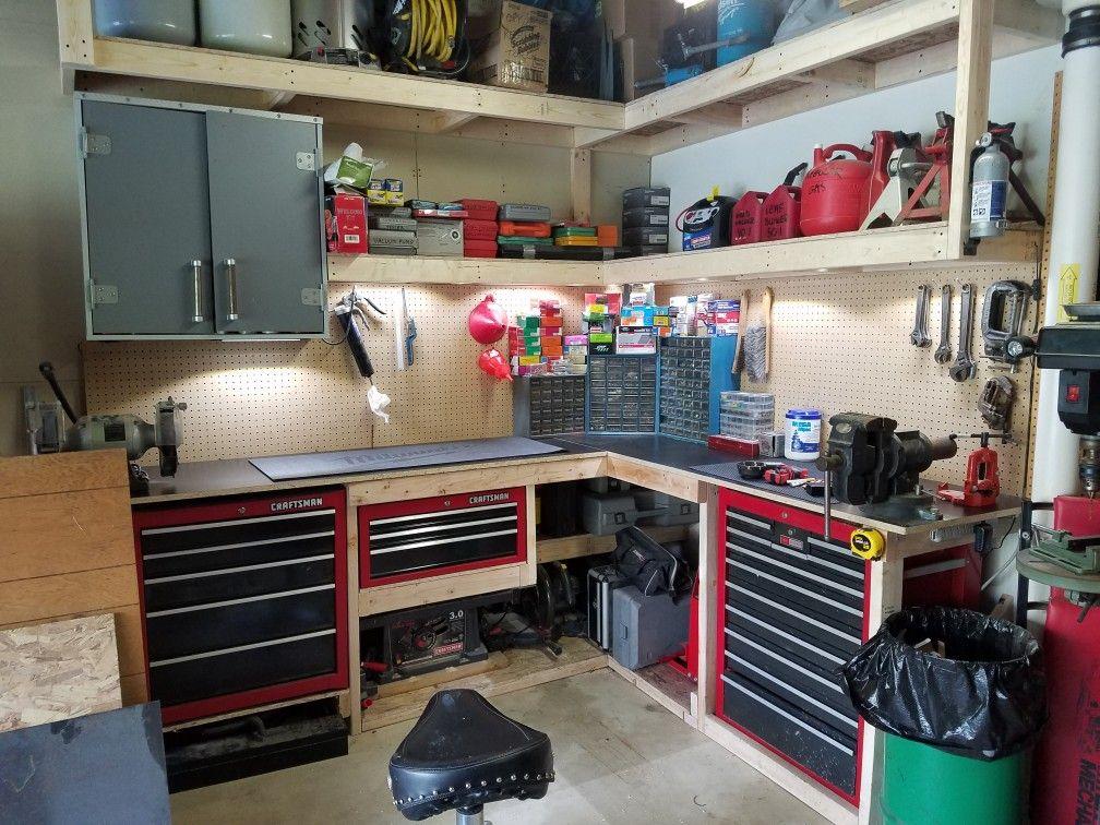 Garage Corner Workbench Ideas Diy And Crafts Garage
