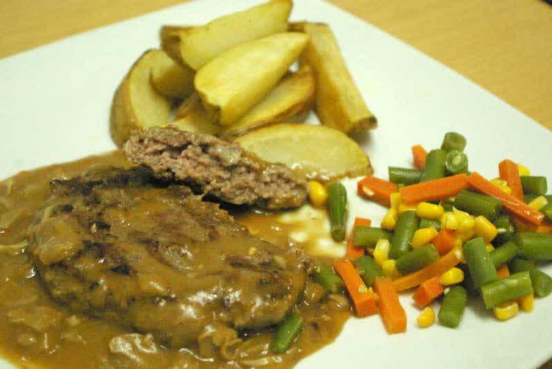 Resep Steak Daging Cincang Burger Steak Resep Hari Ini Resep Steak Steak Daging Cincang