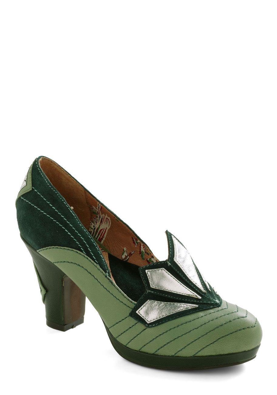 Deco Dazzling Heel Mod Retro Vintage Heels Modcloth Com Art Deco Shoes Vintage Heels Vintage Shoes