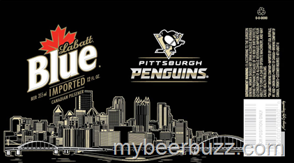 mybeerbuzz.com - Bringing Good Beers & Good People Together...: Labatt Blue - Pittsburgh Penguins Hockey Cans