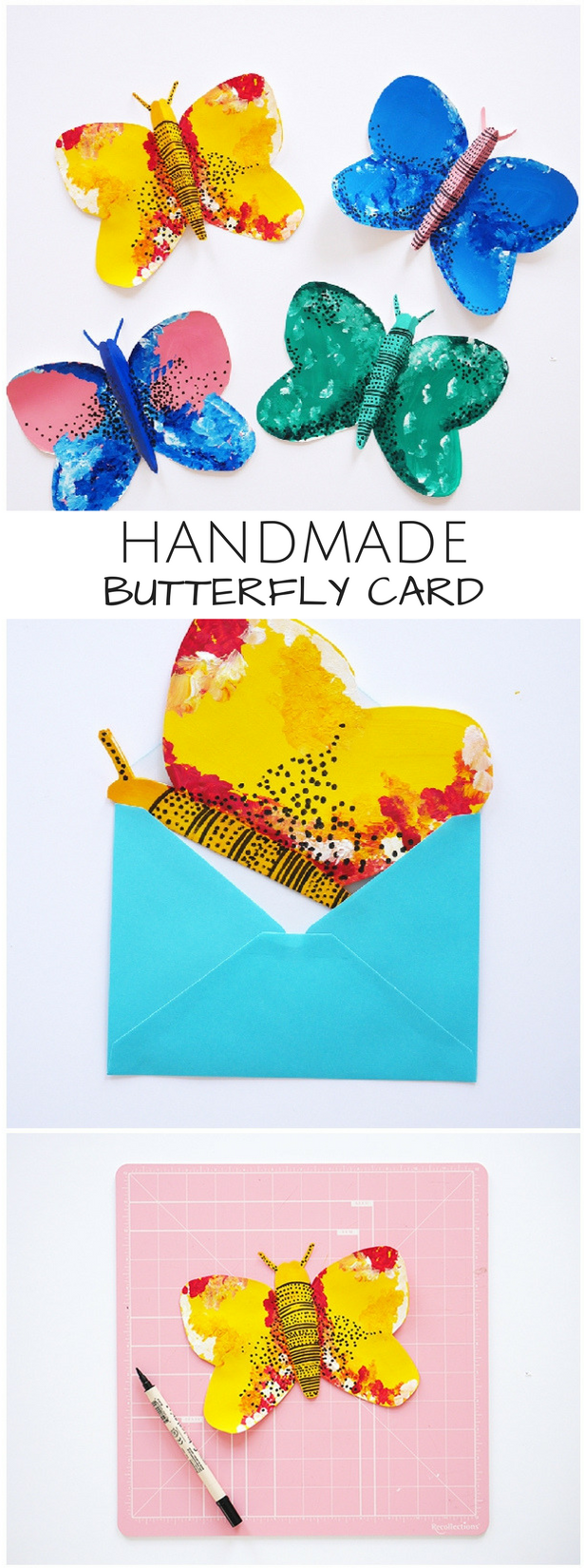 Beautiful painted handmade butterfly cards fun art projects