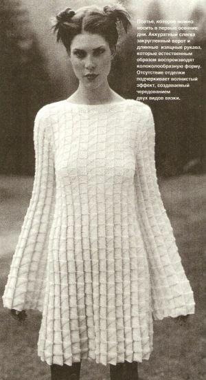 Платья вязание необычные