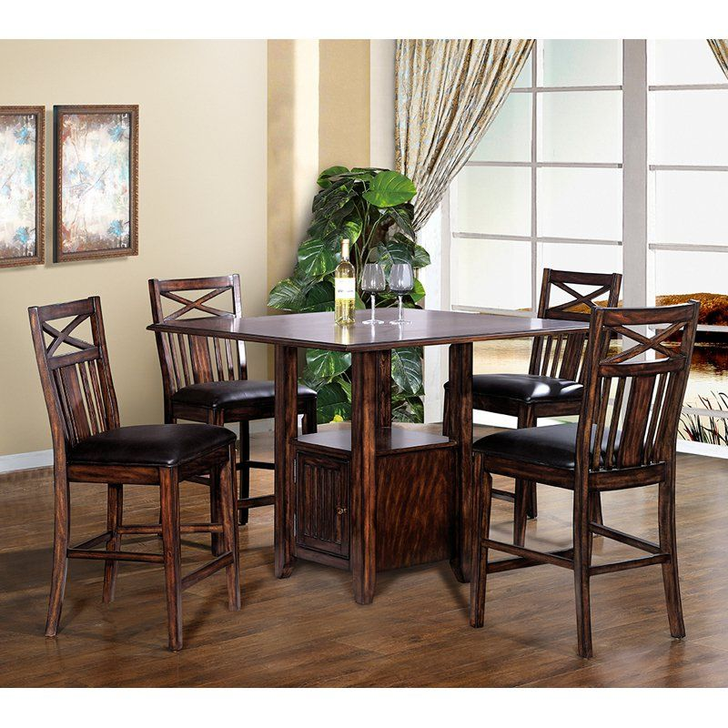 ECI Augusta 5 Piece Counter Height Dining Table Set - ECI384 | Products