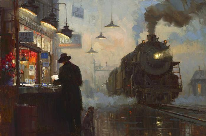 Night train, Lionel Walden (1861-1933)