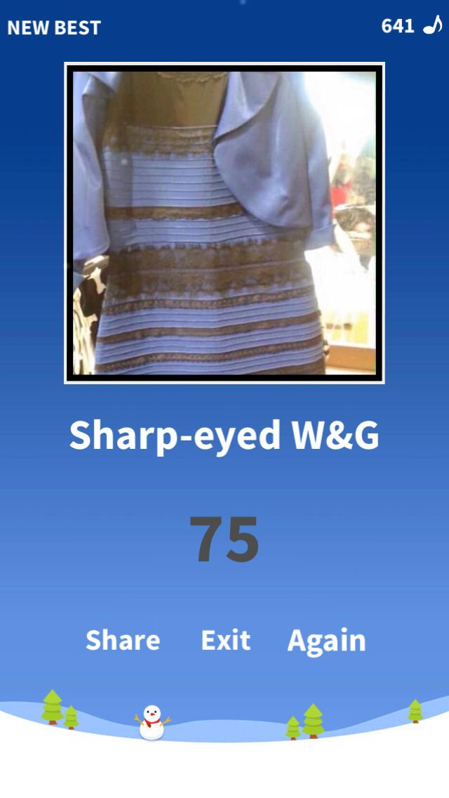 I see white and gold, and you? Test now!