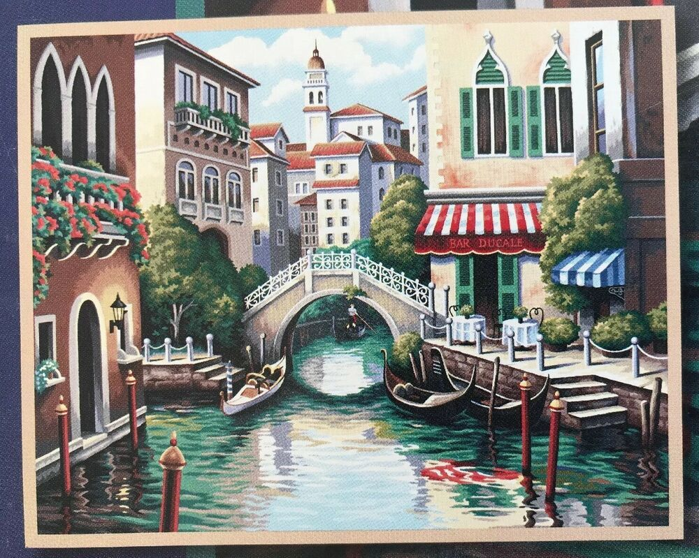 Dimensions Paintworks Scenic Canal Paint By Number Kit Italy 2006