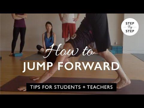 how to do a sun salutation jumping forward  youtube