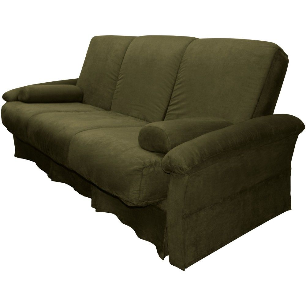 Nirvanna Perfect Futon Sofa Sleeper Olive Green Upholstery Full Size Sit N Sleep Heather