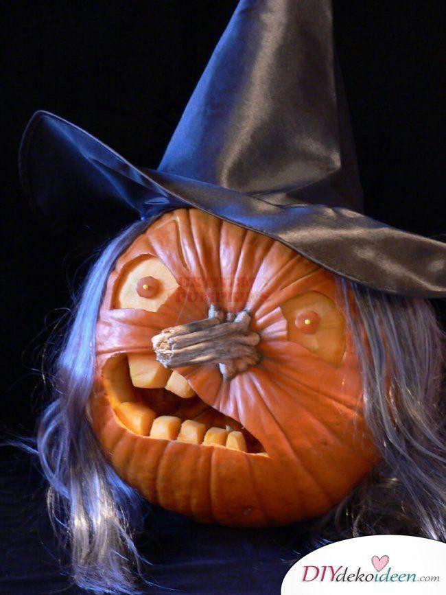 Kürbis schnitzen zu Halloween - Das sind die besten Ideen zum Gruselfest #diyhalloweendéco