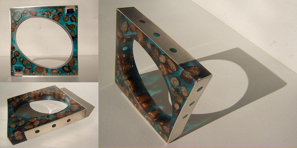 All sizes | brazalete Vida Interior. Plata, resina turquesa y cochayuyo | Flickr - Photo Sharing!