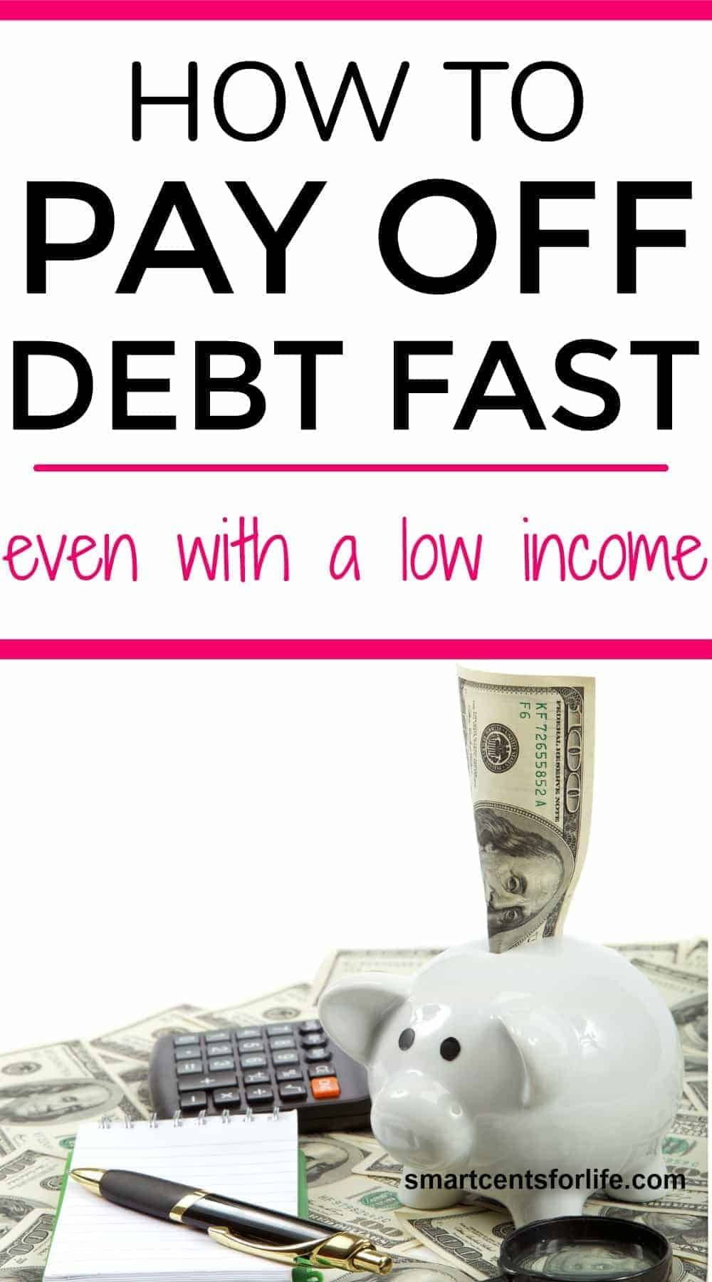 How to pay off debt fast even with a low debt