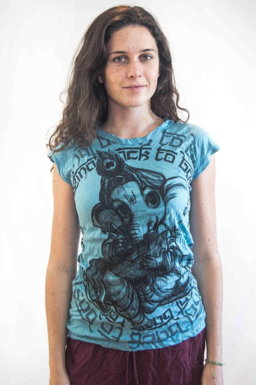 Baby Ganesh Women's Shirt Turquiose