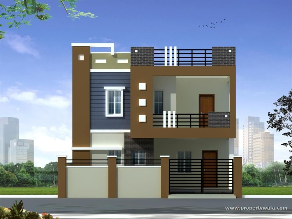 Duplex house elevation nature pinterest for Indian house front elevation photos for single house