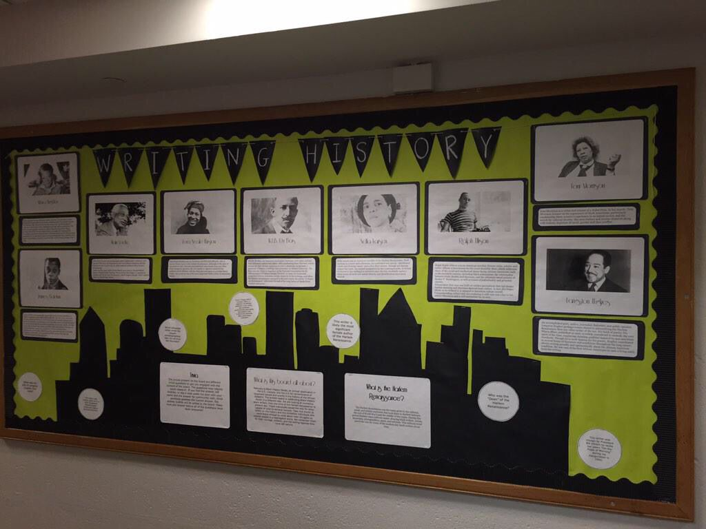 History Classroom Decorations : Black history month bulletin board harlem renaissance and