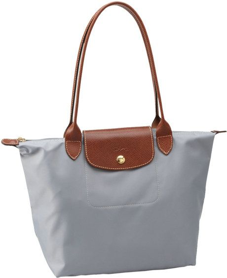 561de2b012 If someone can find this exact bag for me I will love you forever! Longchamp  Gray Le Pliage Tote Bag