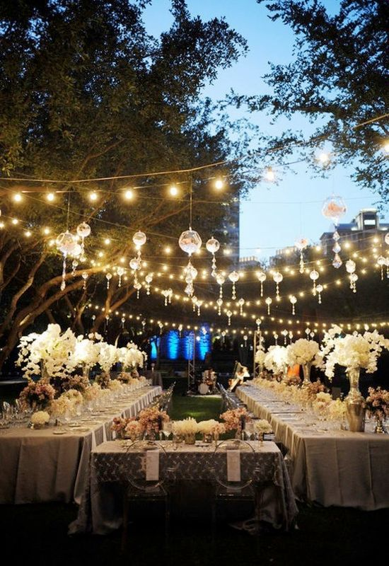Wedding Reception Lighting Ideas 001 Wedding Ideas Wedding Trends And Wedding Galleries Outdoor Wedding Wedding Long Table Wedding