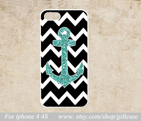 chevron iPhone Case,iPhone 4 Case , Anchor iPhone 4s Case, Geometric iphone 4 case,cover skin case,Geometric,hard Plastic Phone Case on Etsy, $6.99