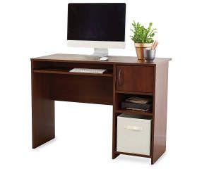 Ameriwood Resort Cherry Computer Desk Big Lots Desks For Small Spaces Space Saving Desk Computer Desk