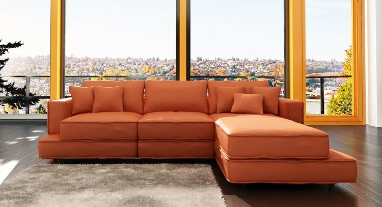 Orange Sofa Ein originelles Möbelstück für das Wohnzimmer Mobel - wohnzimmer orange beige