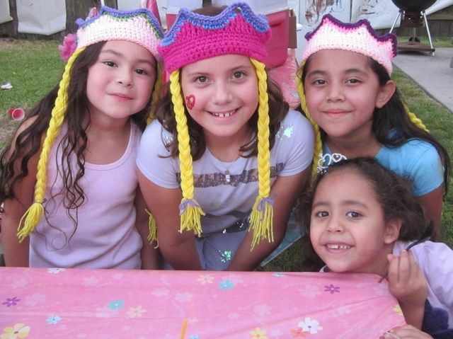 Crocheted Rapunzel hats