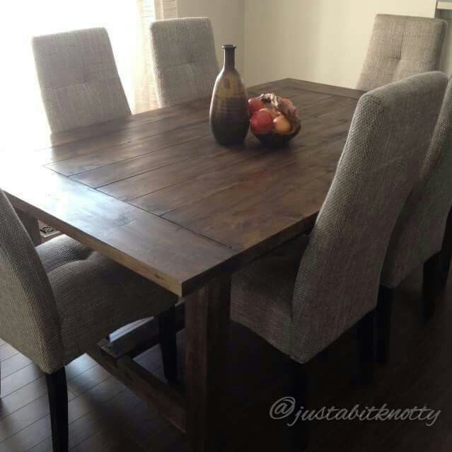 Knotty Pine Table Finished In Annie Sloan Dark Wax.