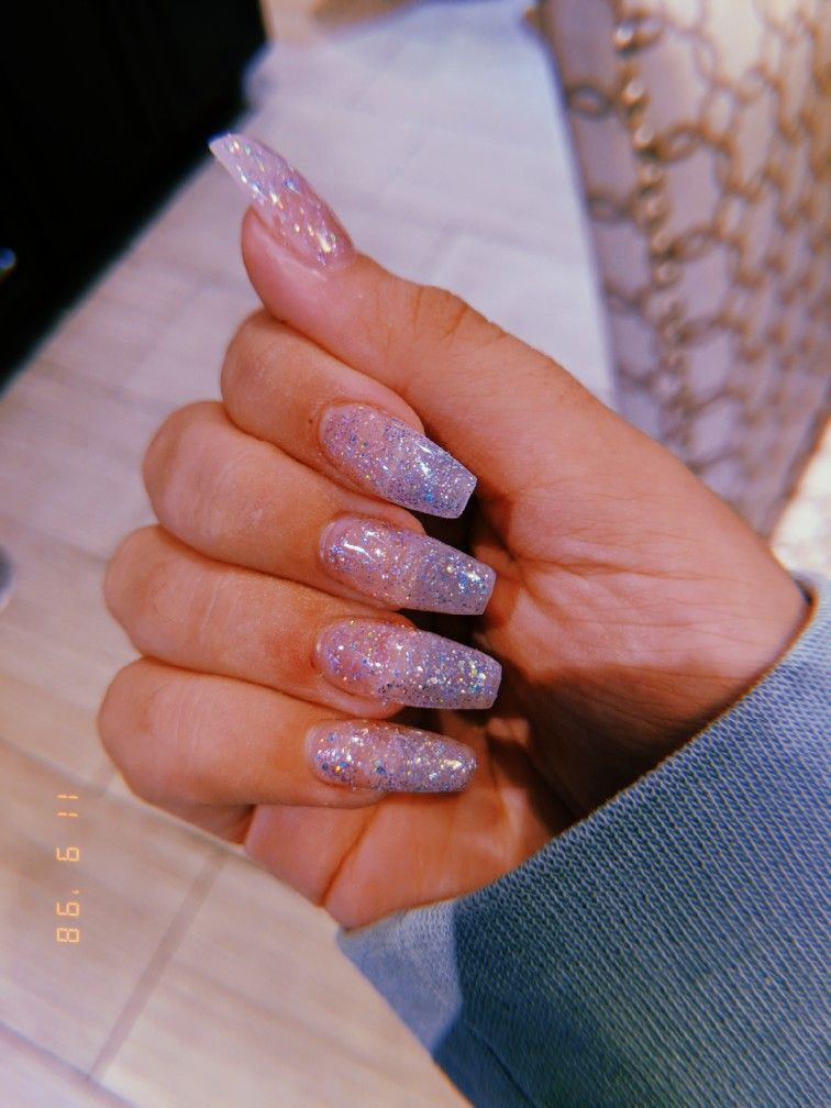 Awesome Acrylic Coffin Nails Designs In Summer With Images Glitter Nails Acrylic Ombre Acrylic Nails Coffin Nails Designs