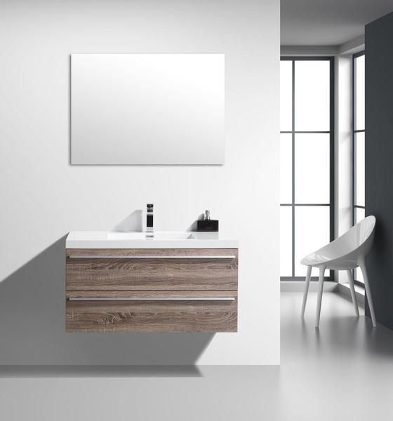 Sophia Golden Elite 36 Light Oak Modern Wall Mount Bathroom Vanity