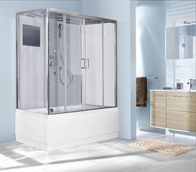 Cabine de douche nos mod les pr f r s id es pratiques baignoire douche baignoire et - Baignoire douche avec porte pas cher ...