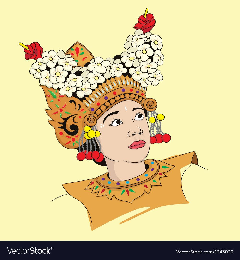Legong Dance Vector Image On