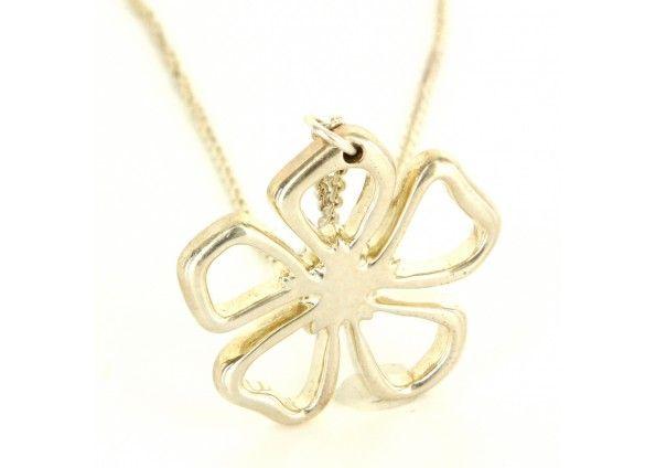Estate designer tiffany sterling silver flower pendant necklace estate designer tiffany sterling silver flower pendant necklace aloadofball Choice Image