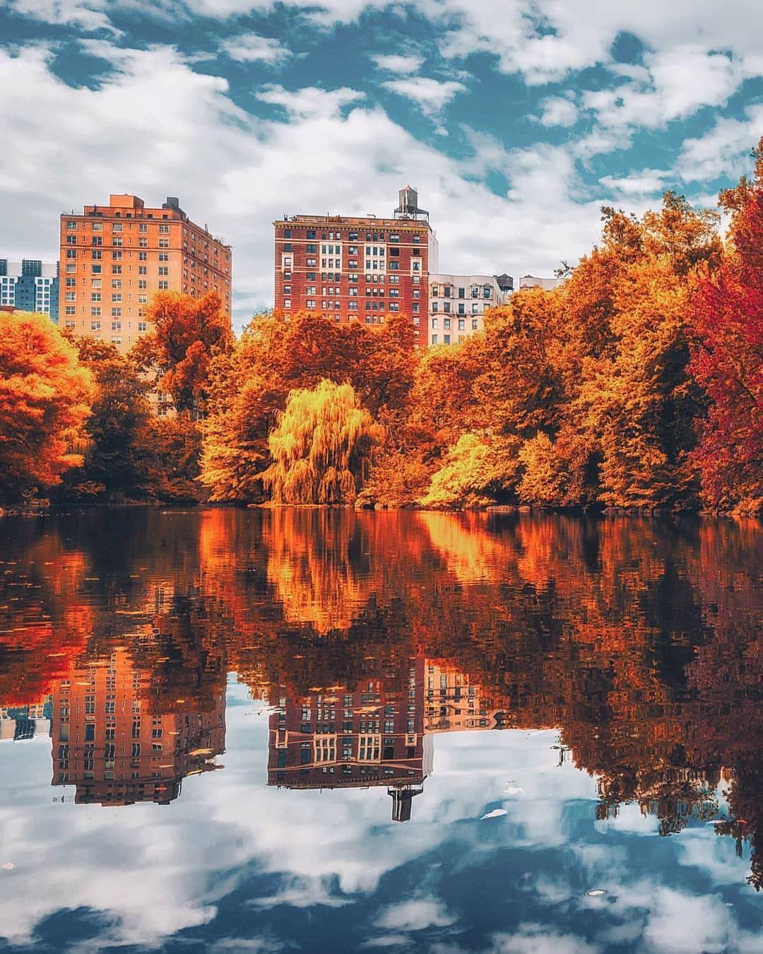 Fall In New York Fall City New York Wallpaper Manhattan Wallpaper