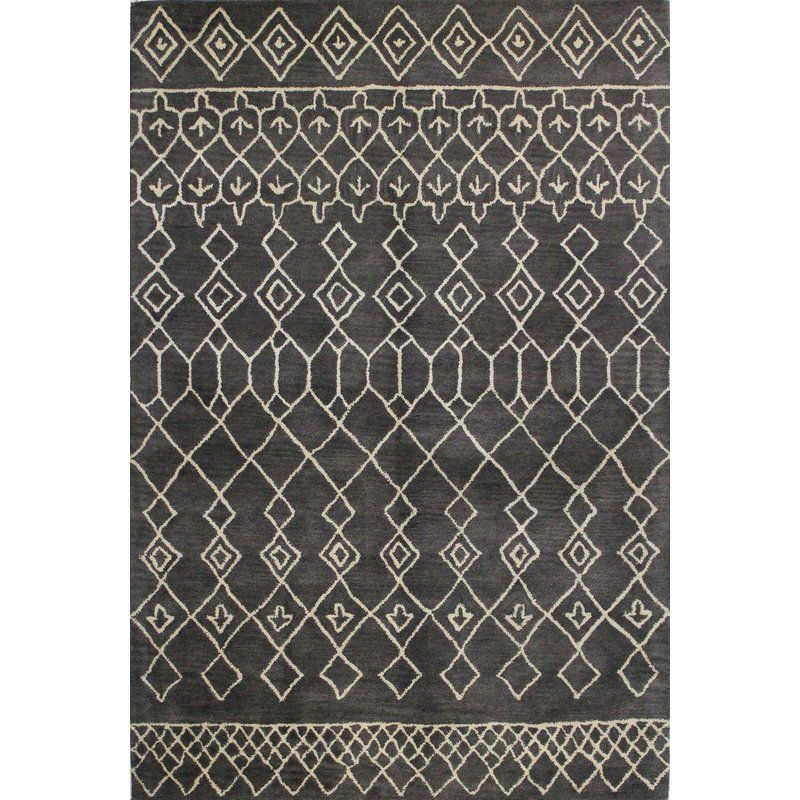 Tufted Indian Wool In Stunning Geometric Designs Elevate Any Room S Chic Factor Wool Area Rugs Grey Area Rug Hand Tufted Rugs