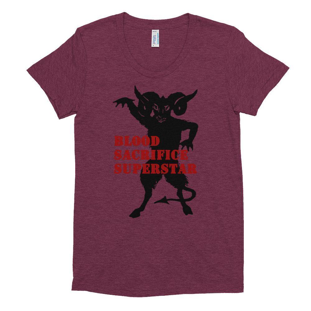 Blood Sacrifice Superstar Women's short sleeve soft t-shirt