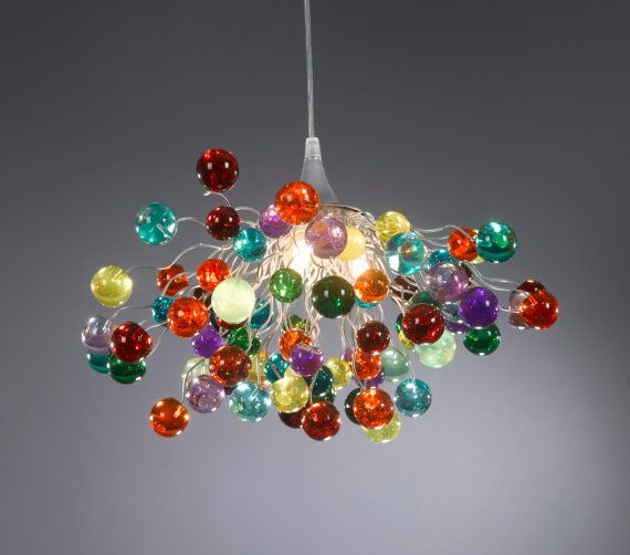 Lighting hanging chandeliers bubbles by Flowersinlight on Etsy, $430.00 For my diningroom table in my new home.  The flowers would match my decor!
