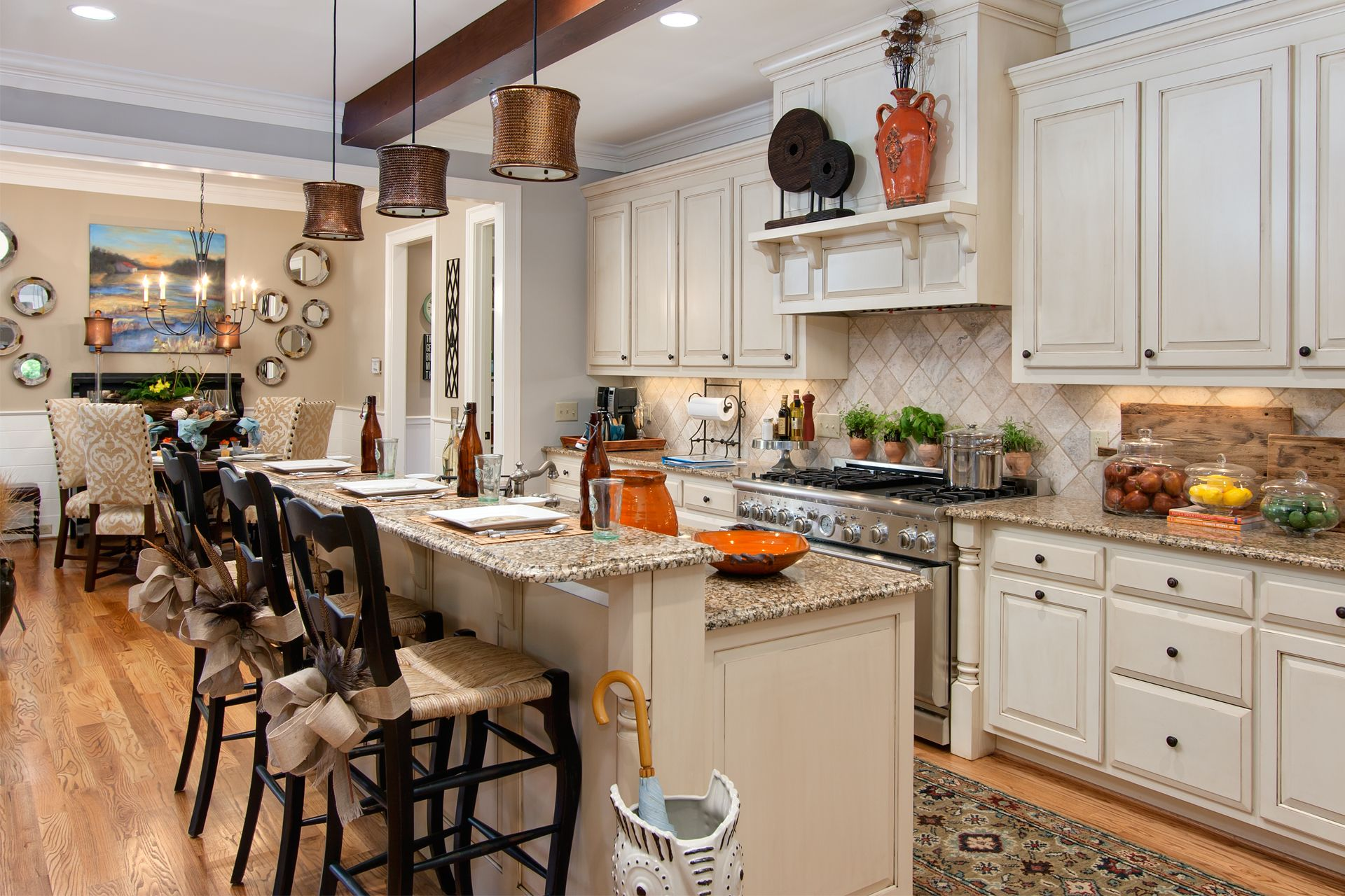 Architecture Antique White Color Of Island Also Cabinetry Has Adorable Small Kitchen Living Room Design Ideas Review
