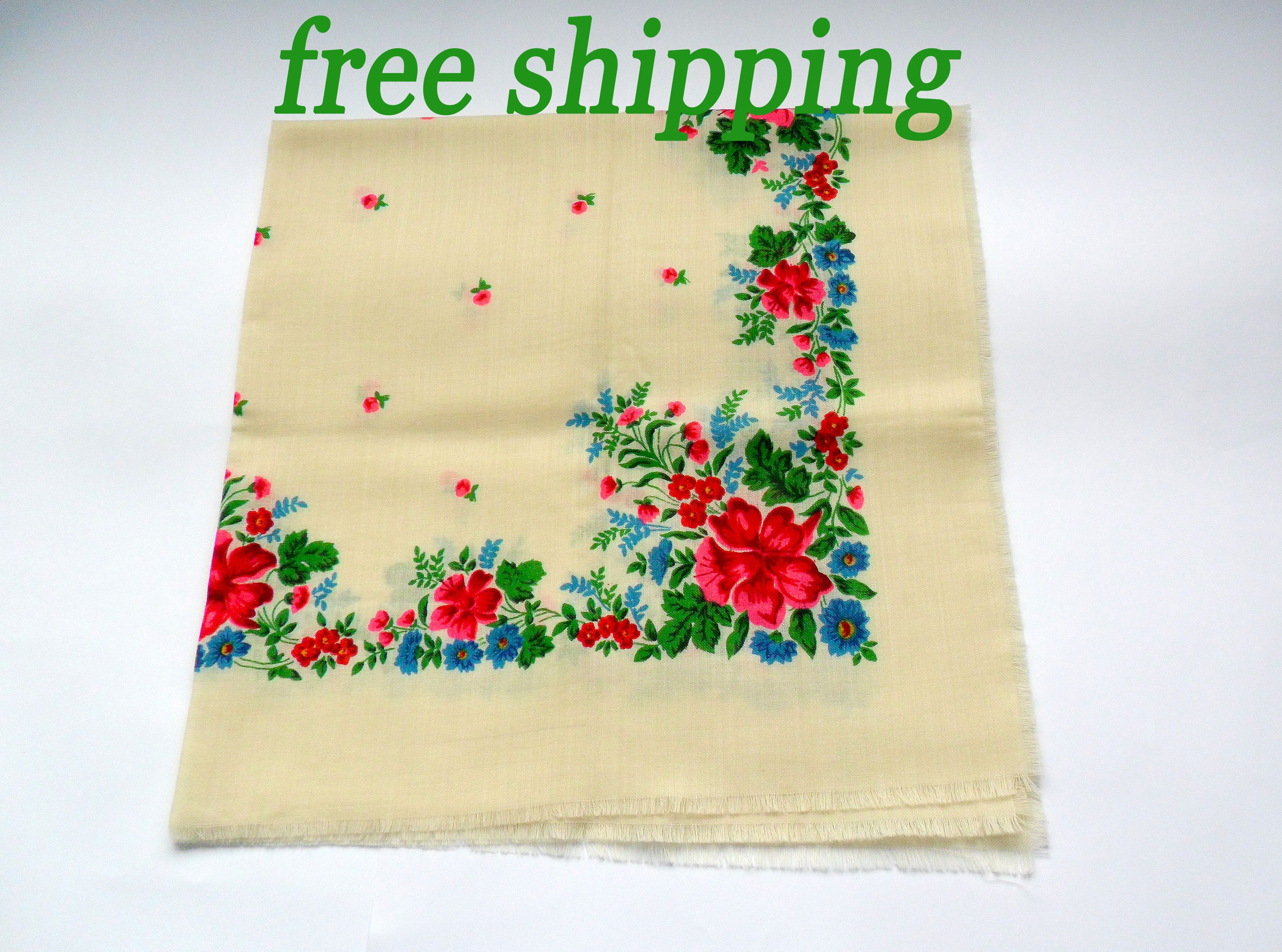 Shawl can also be used for home decor, as tablecloth or wall decor ...