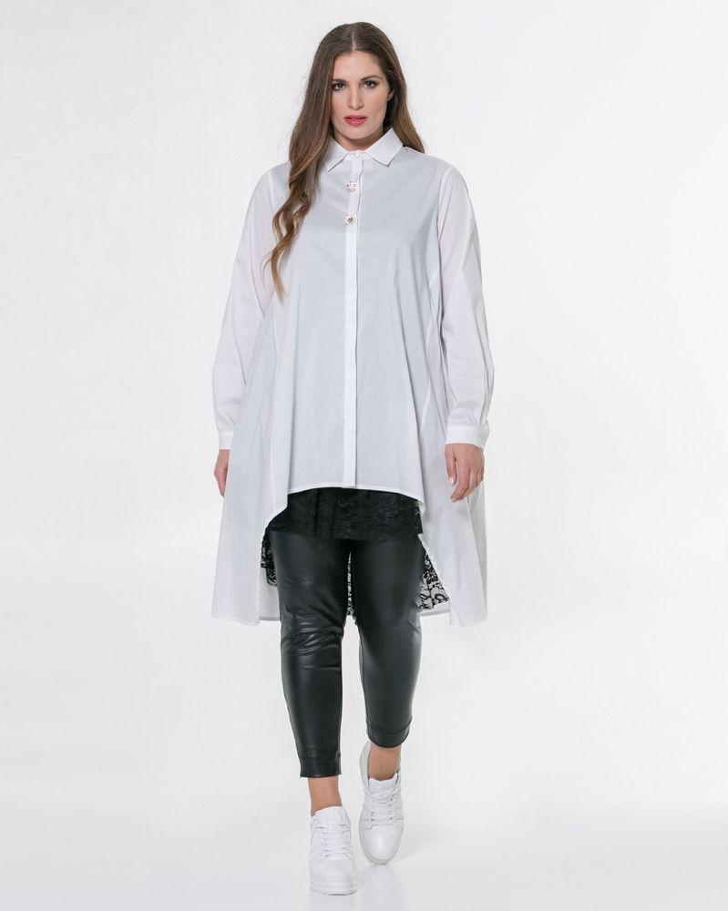 dc98a351e5cc Ασύμμετρη πουκαμίσα με διακόσμηση — mat. XXL sizes — Γυναικεία Ρούχα ...
