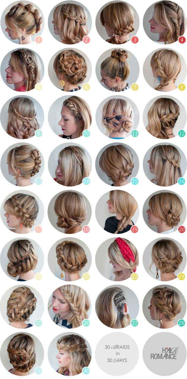 So Her Hair Is A Little Bit Longer But Many Of These Should Be Doable I M Into 24 Right Now Hair Challenge Hair Styles Hair Romance