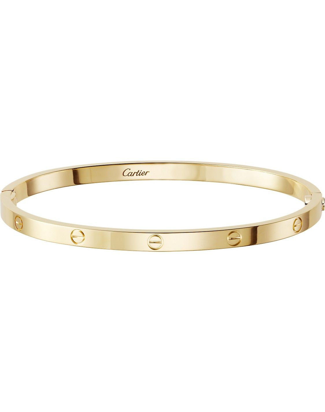848c614e675 LOVE 18ct yellow-gold bracelet small in 2019 | Jewels | Gold bangle ...