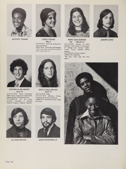 1976 New Rochelle High School Yearbook via Classmates.com