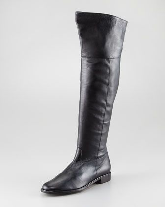 deba6b5c310 Jini Flat Leather Over-the-Knee Boot by Robert Clergerie at Neiman Marcus.