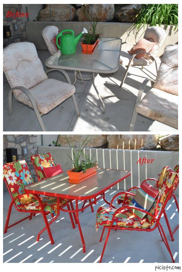 14 refinished patio furniture ideas