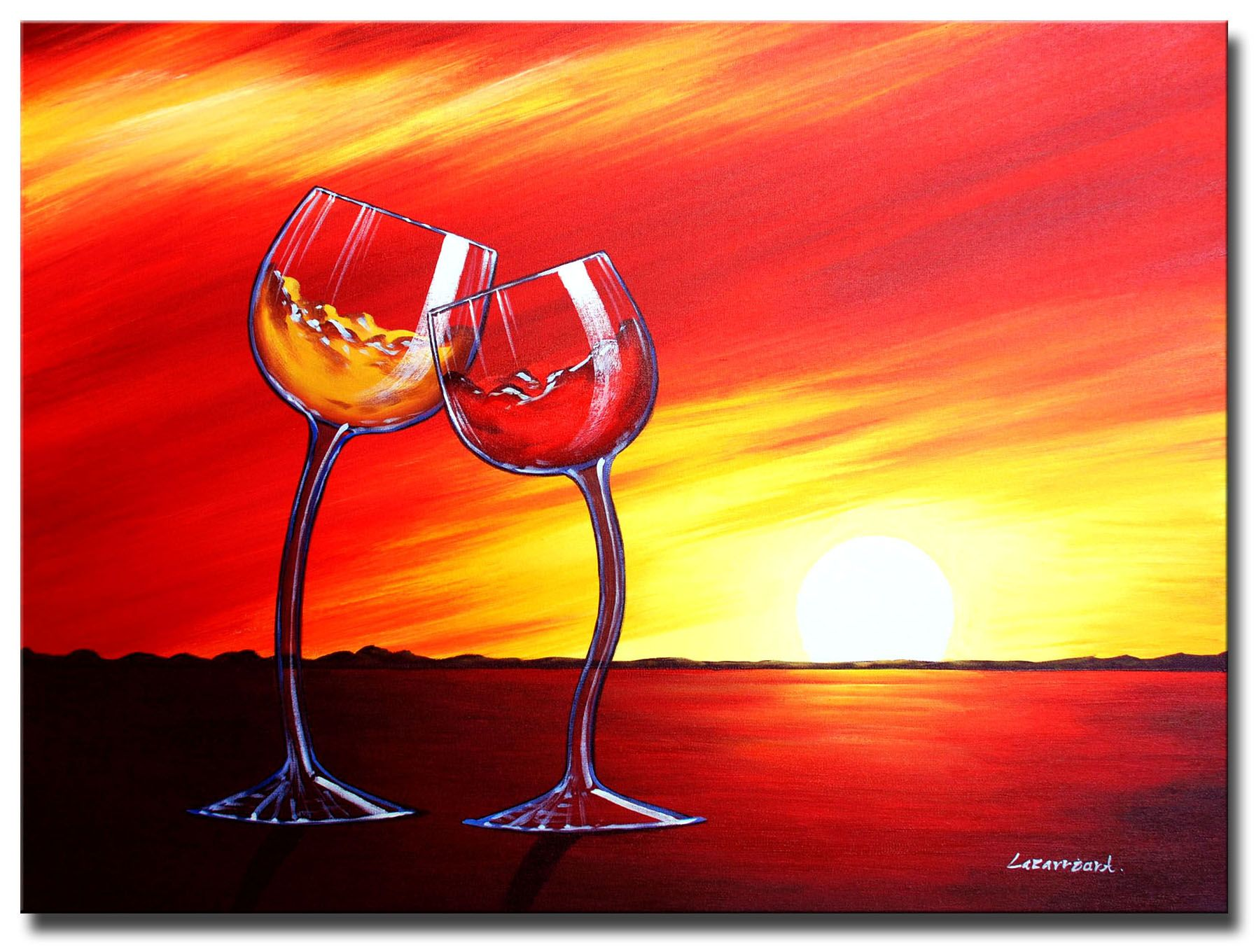 Sunset Toast Sunset Toast Hand Painted Canvas Art C1284a 131 00 Canvas Paintings Direct High Qu Contemporary Art Canvas Canvas Art Painting Canvas Art