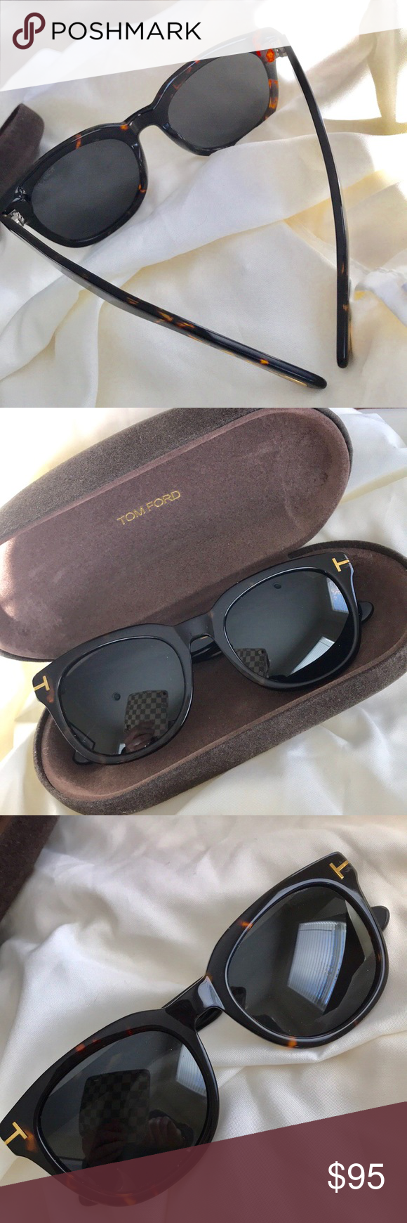 69e58304ec2 Tom Ford Unisex Cary Sunglasses Wayfarer Tortoise Unisex. Classic Tom Ford  iconic Cary Wayfarer Sunglasses