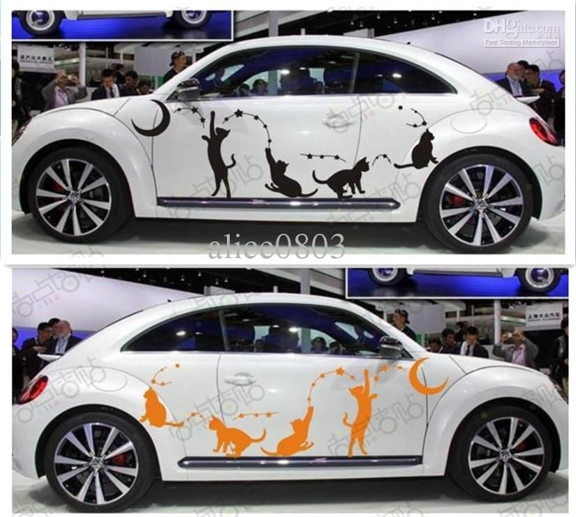 2018 funning cat high quality car stickers accessoriesequalizer el car body stickerauto decals two sidesfrom alice0803 37 24 dhgate com