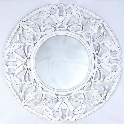 Details About Large Ornate Round Wall Mirror Shabby Chic