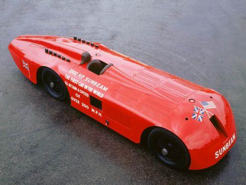 1927 Sunbeam 1000 Hp Land Speed Record Car カー バイク 車