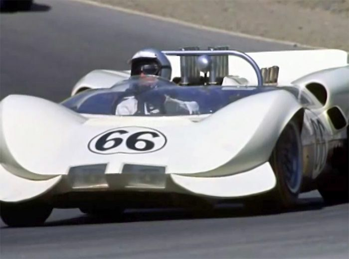 1965 mid-season Chaparral 2, without heavily louvered fenders. From ...