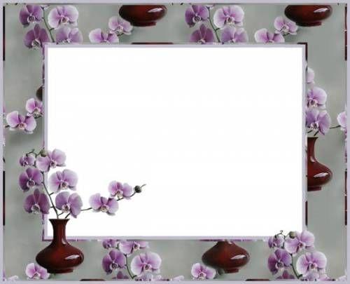 Красивые Красивая рамка. Нежные сиреневые орхидеи рамки