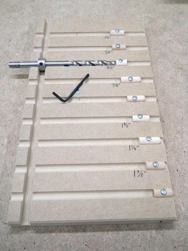 Pocket Hole Drill Bit Depth Setting Board / Plateau d'ajustement de profondeur de forets pour vis cachés